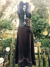 ECCENTRICO Gotico Steampunk Gonna SELLINO Hitch CONTADINA Gypsy Pirata FANCIULLA pagano 8