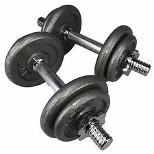 20kg Dumbbell Set Dumbbells Fitness Free Weights Training Gym Bar Iron Plates