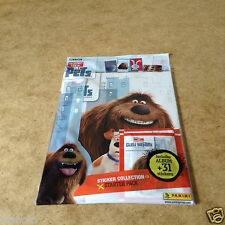 Panini The Secret Life of Pets Sticker Starter Pack = 1 Album + 31 Stickers New