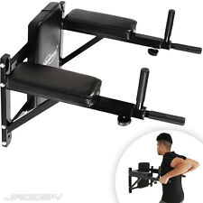 Wall Mounted Dip Station Knee Bars Abs Triceps Leg Raise Pull Up Bar Home Gym