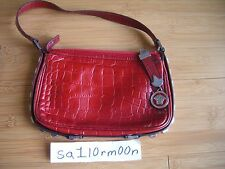 Gianni Versace red leather shoulder bag authentic purse hand satchel