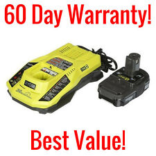 GENUINE RYOBI ONE+ P128 18 VOLT LITHIUM ION P102 BATTERY AND P117 CHARGER COMBO