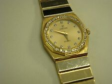 14k yellow gold ladies diamond concord watch diamond dial diamond bazel
