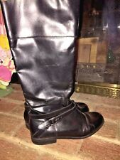 J CREW Crop Horse GENUINE LEATHER TALL RIDING DRESS BOOTS WOMENS SHOES SIZE 7