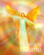 ARCHANGEL CHAMUEL Spiritual Angel Painting -Guardian Angel Art by Glenyss Bourne