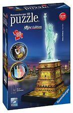 Puzzle 3D Building Night Edition Statua della Libertà New York Ravensburger