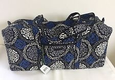 NWT Vera Bradley XL Extra Large Duffel CANTERBERRY COBALT Travel Luggage $108