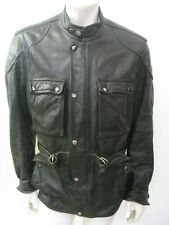 HEIN GERICKE Black Leather Motorcycle Riders Jacket Size 42