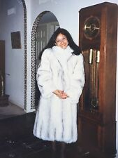 FOX FUR COAT-Natural Norwegian Blue-(Full Length). On Sale $499 (original $1000)