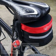 Cycling Bicycle Bike Pannier Saddle Pouch Seat Extending Bag Red & Black Outdoor
