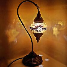 Turc marocain coloré mosaïque lampe tiffany verre bureau table endommagé