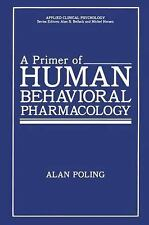 A Primer of Human Behavioral Pharmacology (Applied Clinical Psychology)