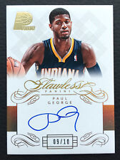 #/10 Paul George 2013-14 Panini Flawless Auto #FL-PG