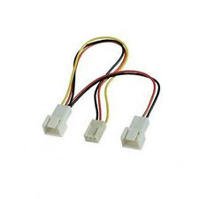 3-pin Female to Dual 3-pin Male PC Fan Power Splitter Y Cable Adapter
