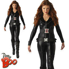 BLACK Widow UK 12 14 Donna Marvel Avengers Supereroe Adulto Costume