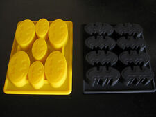 BATMAN LOGO SILICONE BIRTHDAY CAKE PAN CHOCOLATE CANDY MOLD ICE TRAY SET OF 2