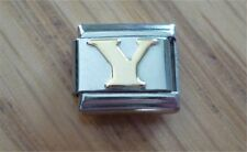 Italian Charms Charm - Gold Letters   Letter Y