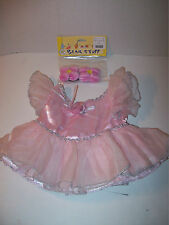 Build A Bear Clothing~Pink Party Dress~Pink Blush Ear Bows Brand New ~D1