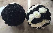 Black Rose Flower Ball Wedding decoratin Ball Kissing Ball 11-12 Inches
