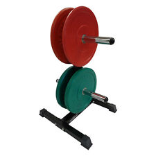 Bumper Weight Plate & Olympic Weight Plate Storage Rack for home & gym BWR2250