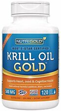 Organic All Natural Krill Oil Gold, 500mg, 120 capsules by Nutrigold