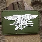 GREEN US NAVY SEAL TEAM TRIDENT 3D PVC TACTICAL ARMY MORALE RUBBER VELCRO PATCH