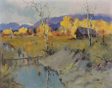 Laurence Mortimer Sydney Autumn Morning Canvas 16 x 20   #4960