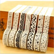 10 Rolls 15mm Ampia Decorative Paper Craft Washi Tape libro Decor Fare Sticker