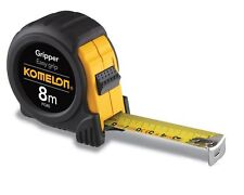 Komelon PG85 2 Pack 8m x 25mm Metric Gripper Tape Measure, Black