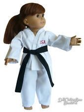 "DEAL! Black Belt Karate Halloween Costume for 18"" American Girl Doll Clothes"