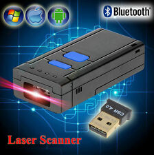 Wireless Bluetooth Barcode Scanner Laser Code Reader For Windows IOS Android