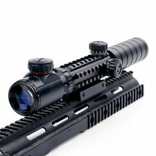 Illuminated 3-9X32EG Red/Green Rangfinder Rife Scope Sight 20 rail For Hunting
