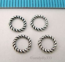 20x BALI STERLING SILVER CLOSED TWIST ROUND JUMP RING 6mm #389