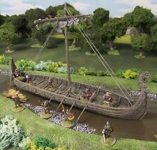 28MM VIKING LONGSHIP - RESIN - Painted to collectors standard.