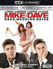 Mike and Dave Need Wedding Dates (DVD, 2016, 4K Ultra HD Blu-ray/Blu-ray)