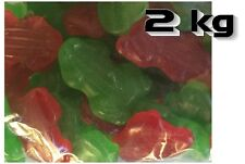 Red nad Green Frogs 1 kg Allseps Bulk Lollies Party Favors Bags Candy Buffet