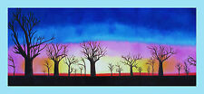 "Print tree boab landscape australia painting canvas aboriginal art 47"" x 20"""