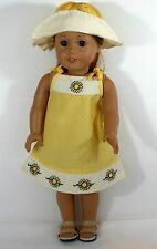For American Girl Doll Adorable Outfit with Dress and Matching Hat / Clothes