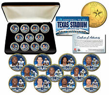 DALLAS COWBOYS Texas Stadium Farewell 11-Coin Set Gold State Quarters w/Gift Box