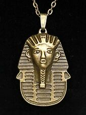 �� Antique Bronze Metal Pharaoh Talisman Curse Spells Egyptian Pendant Necklace