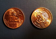 Mexican 20 Centavo Uncirculated Bronze Coin