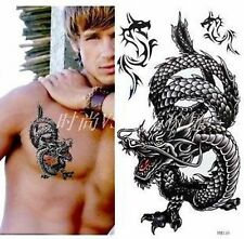 """Temporary DRAGON Tattoo - Large 7"""" Design - Holiday / Party / Fun"""