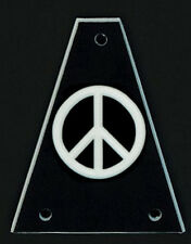 GUITAR TRUSS ROD COVER - Custom Engraved - Fits JACKSON - PEACE - Black