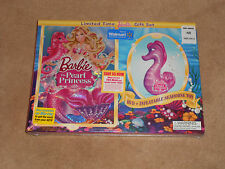 NEW, BARBIE THE PEARL PRINCESS DVD GIFT SET, INCLUDES INFLATABLE SEAHORSE TOY