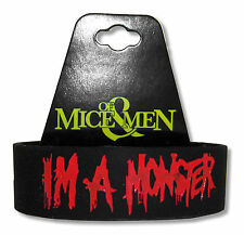 OF MICE & MEN - I'M A MONSTER BLACK SILICONE WRISTBAND NEW OFFICIAL