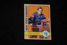 GILLES VILLEMURE 1972-73 TOPPS SIGNED AUTOGRAPHED CARD #137 NY RANGERS