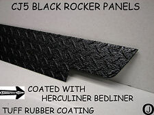 JEEP CJ5 black DIAMOND PLATE SIDE ROCKER PANEL SET OF 2. 5 1/4'' WIDE