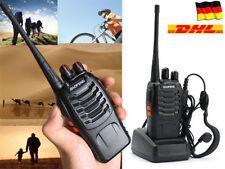 2x Baofeng BF-888S UHF CTCSS/CDCSS Funkgerät Walkie Talkie + Headset Kopfhörer