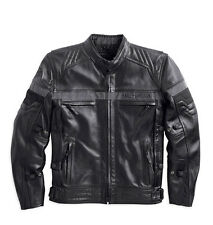 Harley Davidson Men's Triple EVOLUTION Leather Jacket Waterproof 98068-14VM L