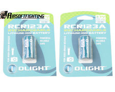 Olight 2*RCR123A 16340 3.7V 650mAh Rechargeable Li-ion Battery for Camera Torch